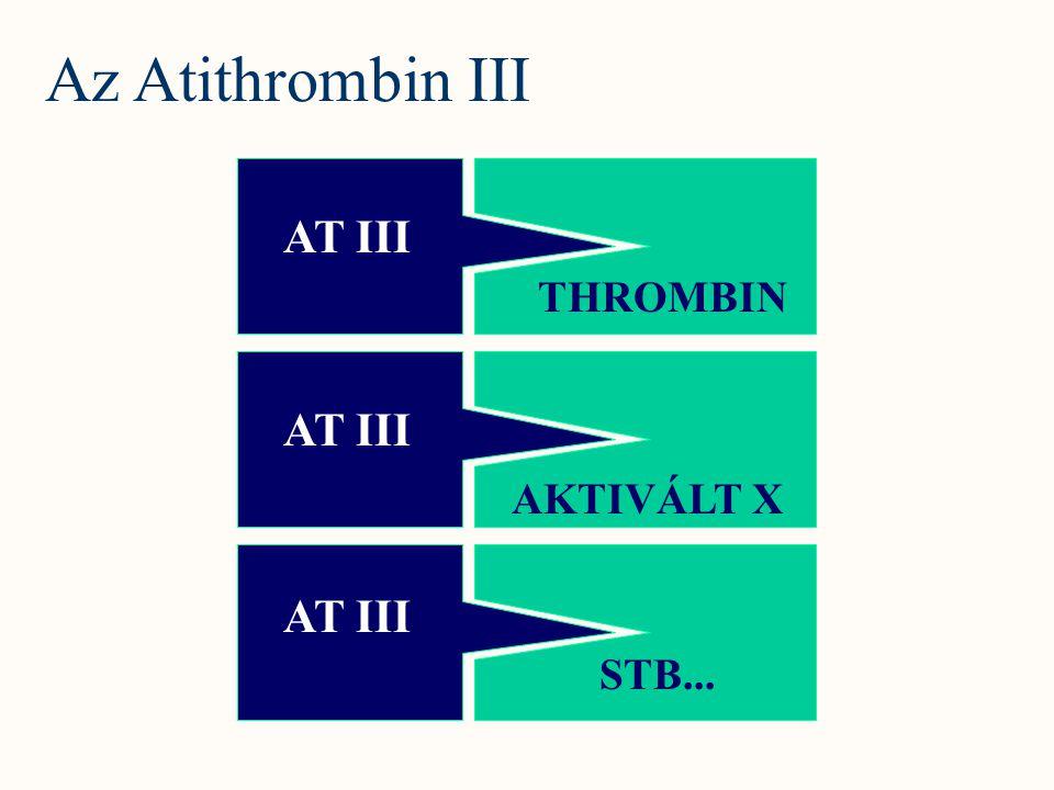Az Atithrombin III AT III THROMBIN AT III AKTIVÁLT X AT III STB...