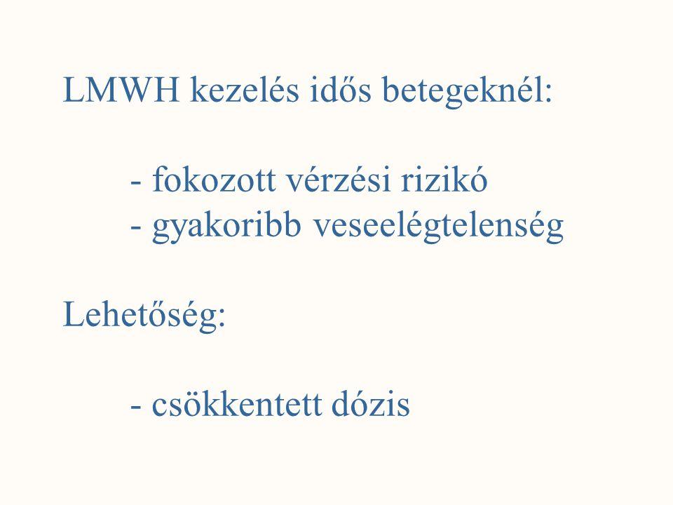 LMWH kezelés idős betegeknél: