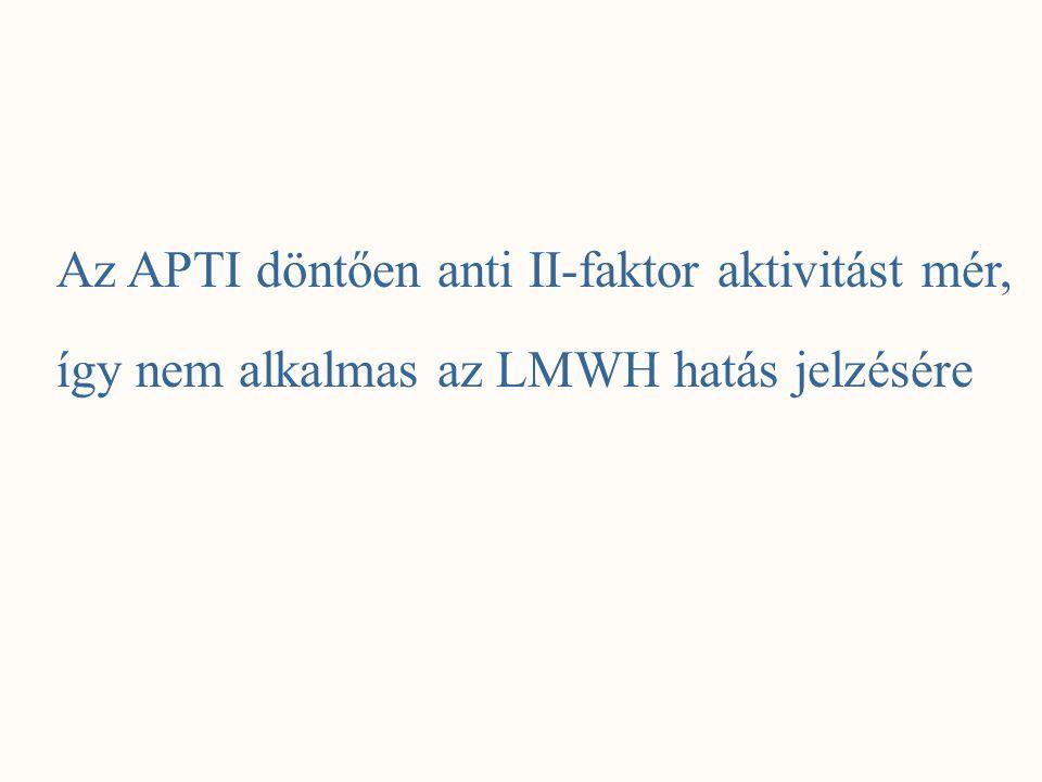 Az APTI döntően anti II-faktor aktivitást mér,