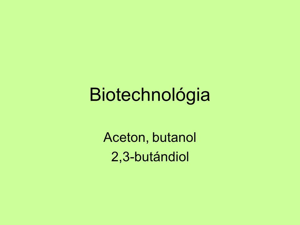 Aceton, butanol 2,3-butándiol