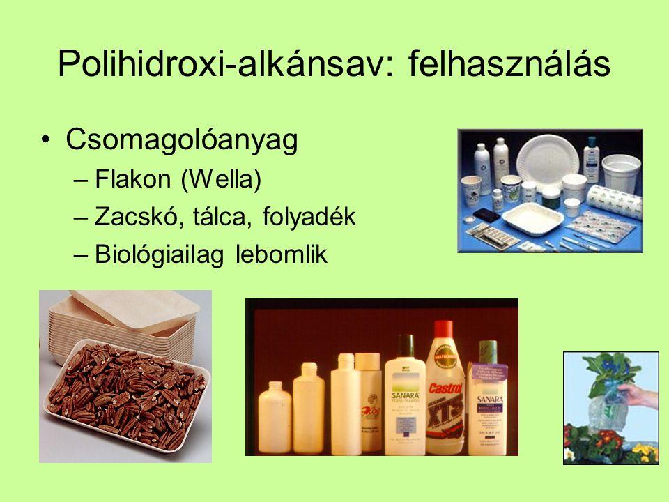 Polihidroxi-alkánsav: felhasználás