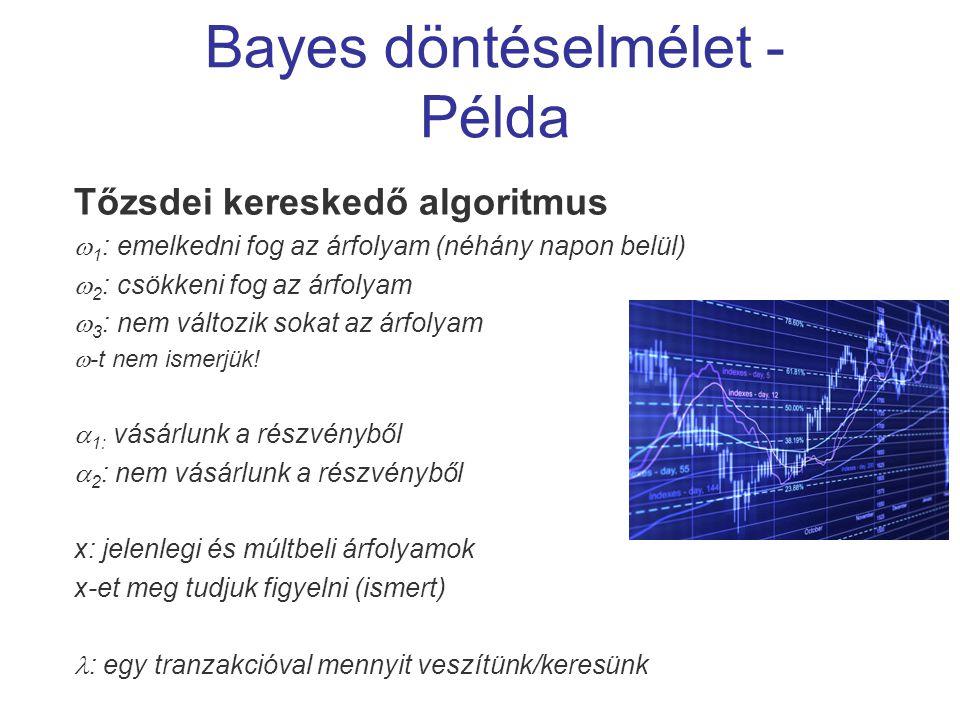 Bayes döntéselmélet - Példa