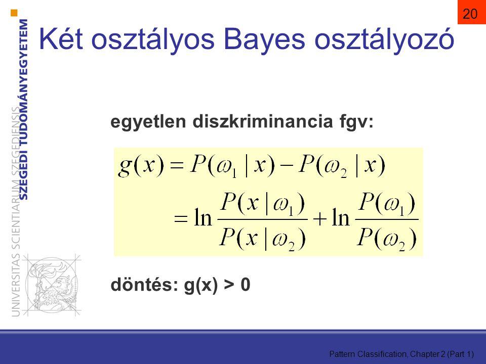 Két osztályos Bayes osztályozó