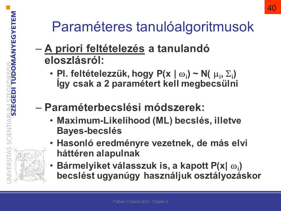 Paraméteres tanulóalgoritmusok