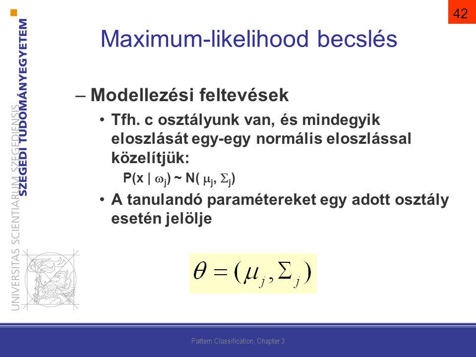 Maximum-likelihood becslés