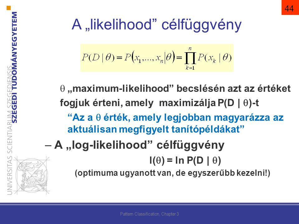 """A """"likelihood célfüggvény"""