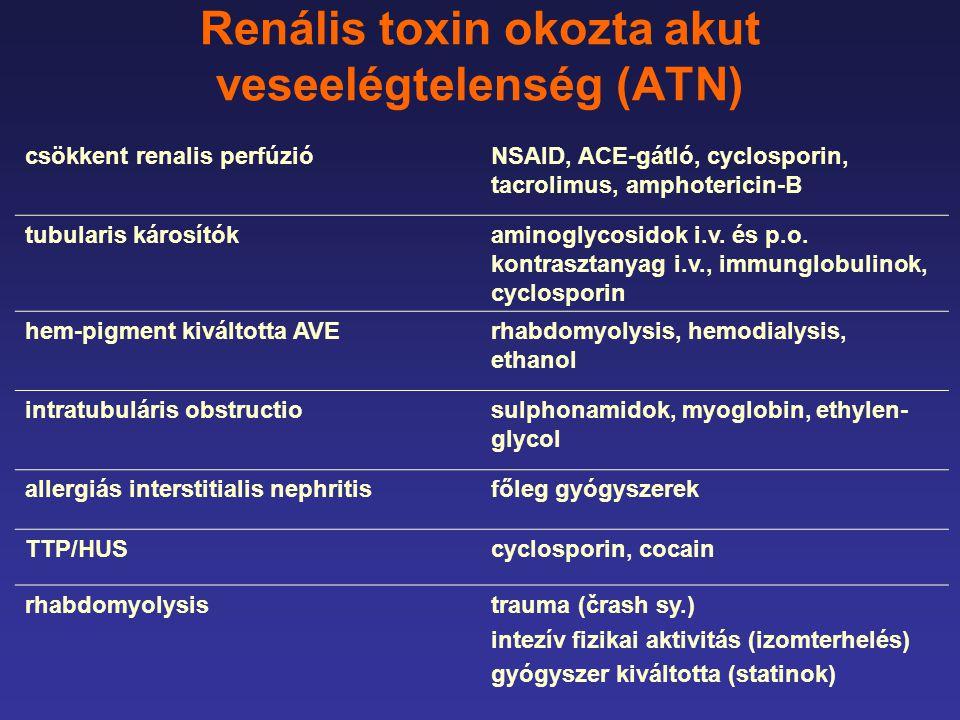 Renális toxin okozta akut veseelégtelenség (ATN)