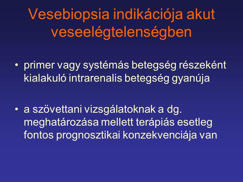 Vesebiopsia indikációja akut veseelégtelenségben