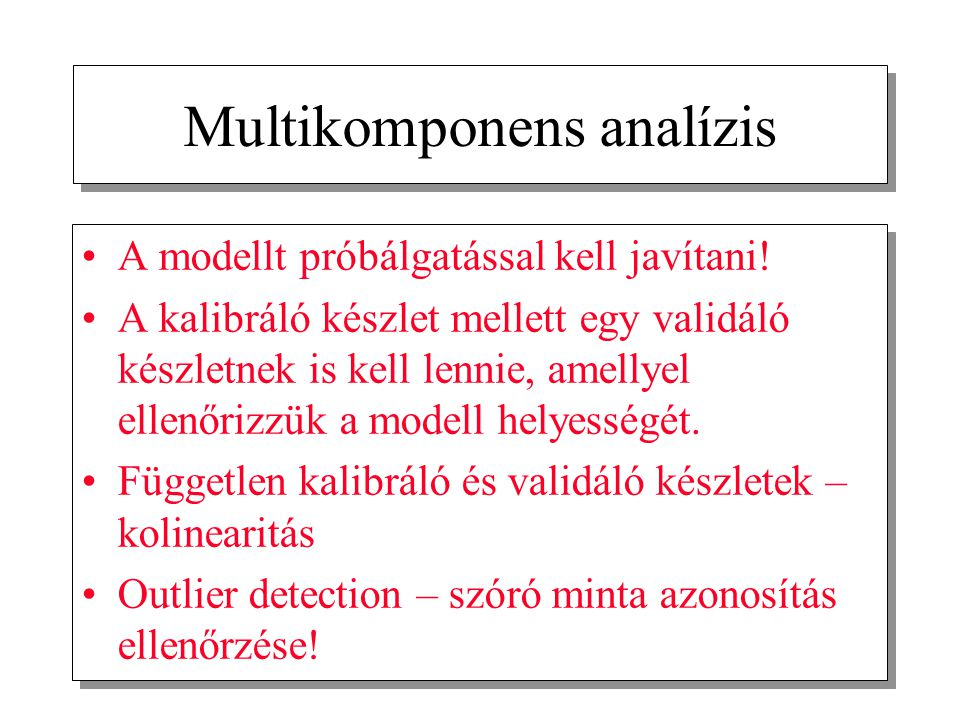 Multikomponens analízis