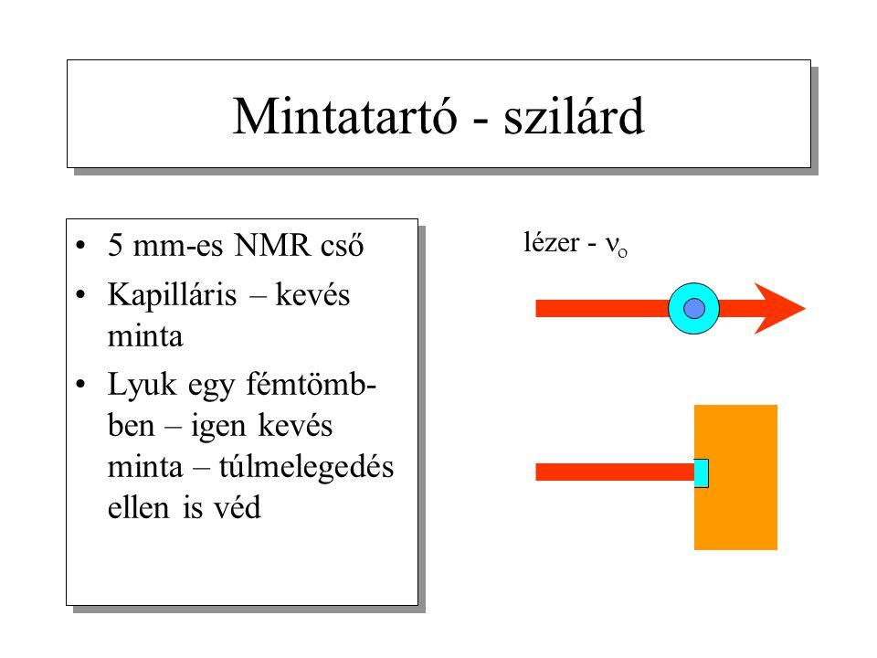 Mintatartó - szilárd 5 mm-es NMR cső Kapilláris – kevés minta