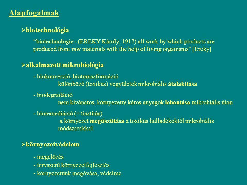Alapfogalmak biotechnológia