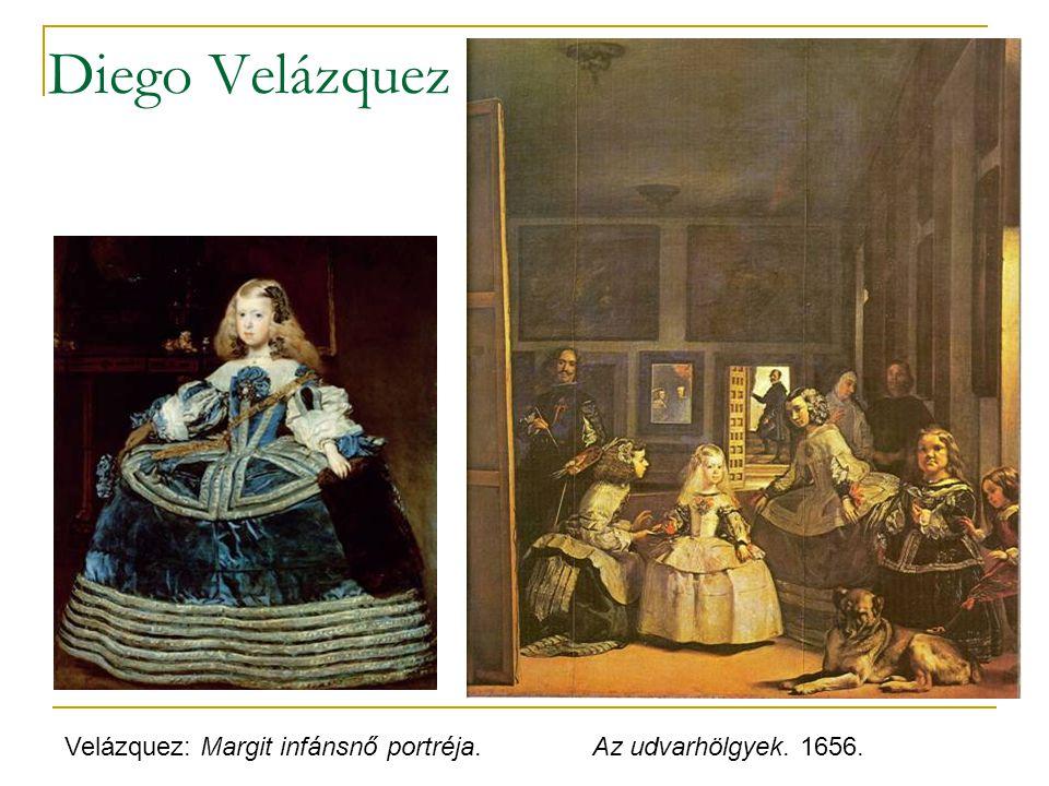Diego Velázquez Velázquez: Margit infánsnő portréja. Az udvarhölgyek. 1656.
