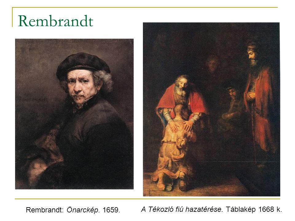 Rembrandt Rembrandt: Önarckép. 1659.