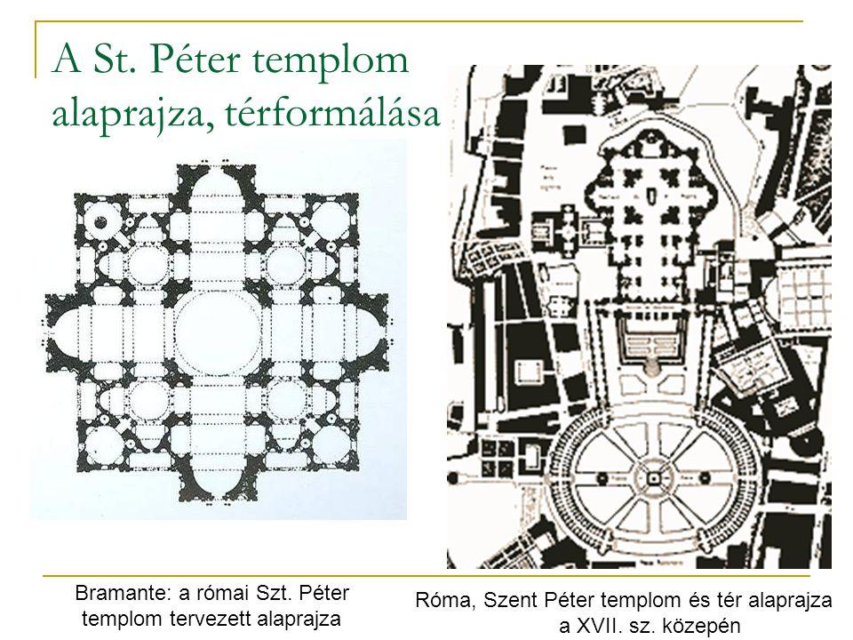 A St. Péter templom alaprajza, térformálása