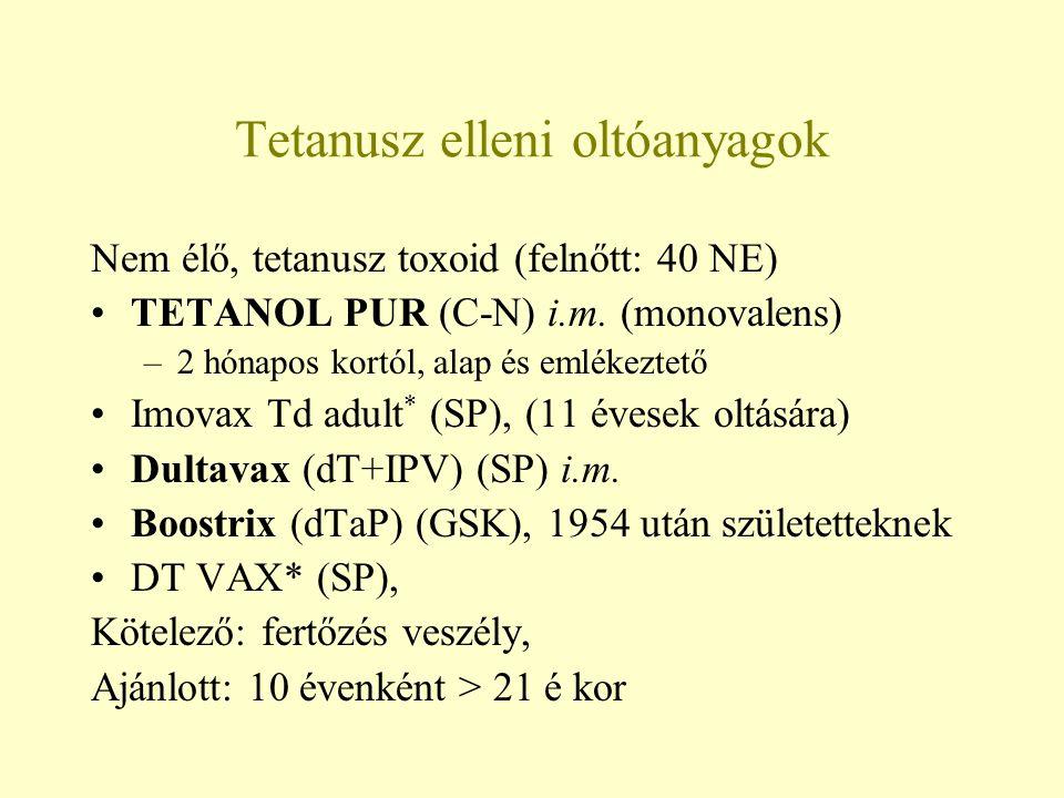 Tetanusz elleni oltóanyagok