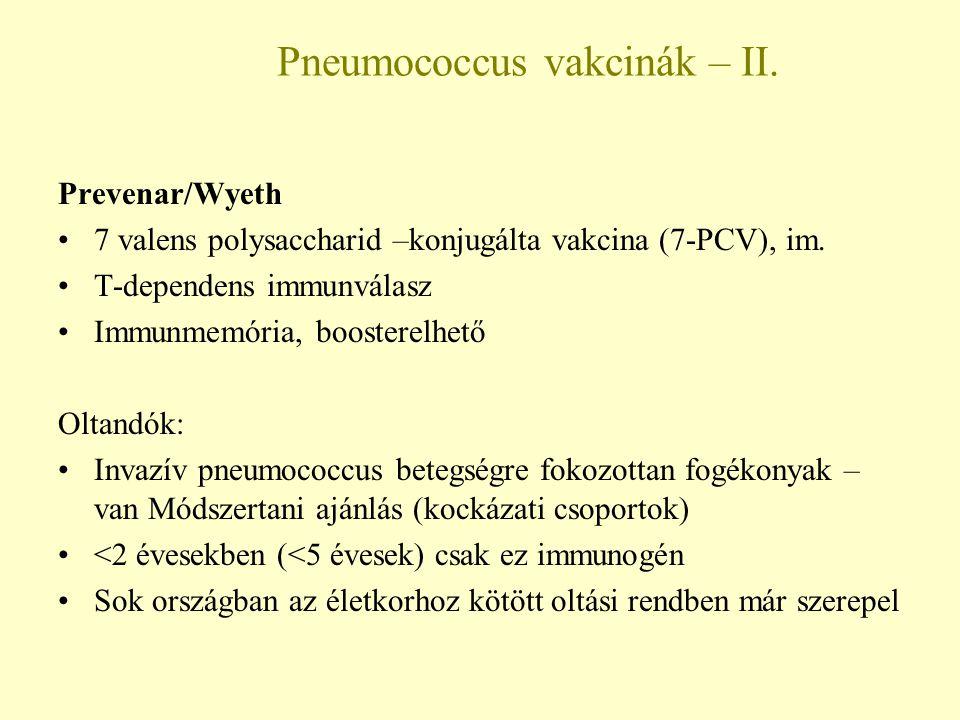 Pneumococcus vakcinák – II.