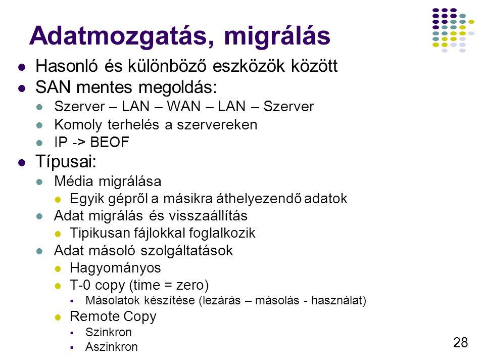 Adatmozgatás, migrálás