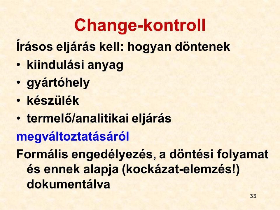 Change-kontroll Írásos eljárás kell: hogyan döntenek kiindulási anyag