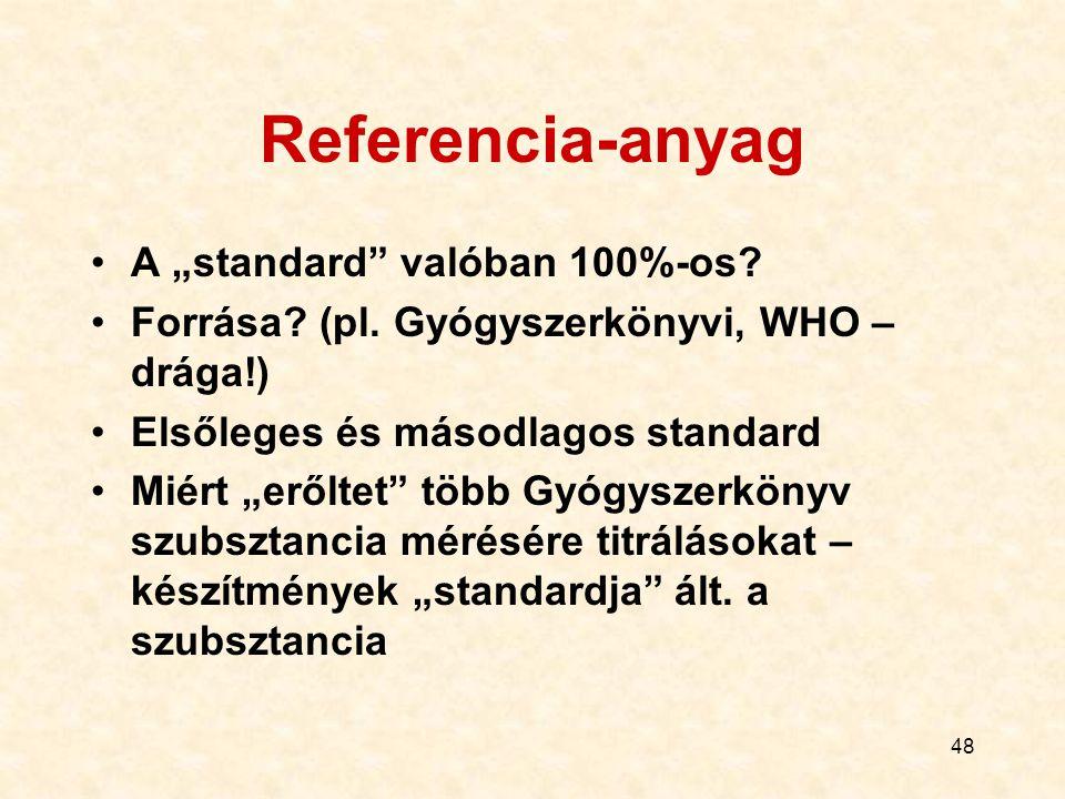 "Referencia-anyag A ""standard valóban 100%-os"
