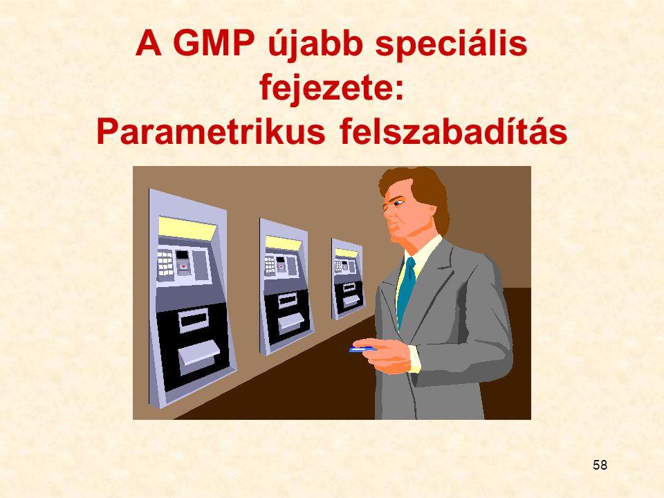 A GMP újabb speciális fejezete: Parametrikus felszabadítás