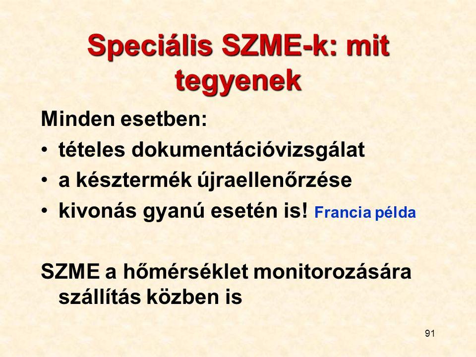 Speciális SZME-k: mit tegyenek