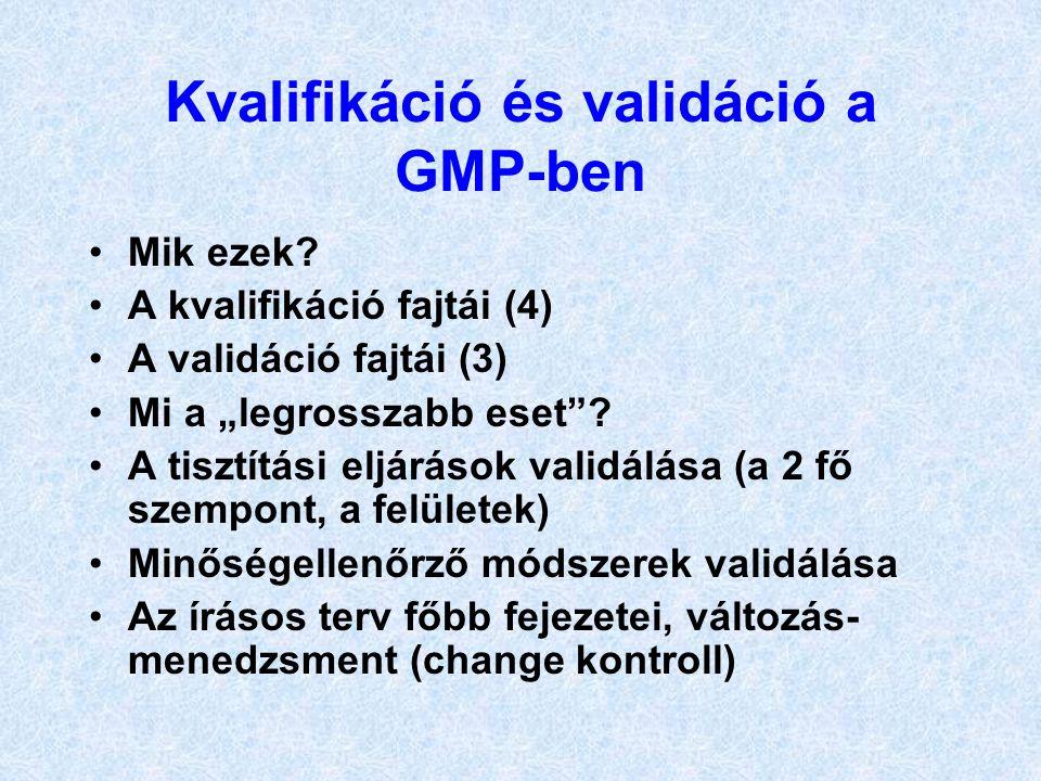 Kvalifikáció és validáció a GMP-ben