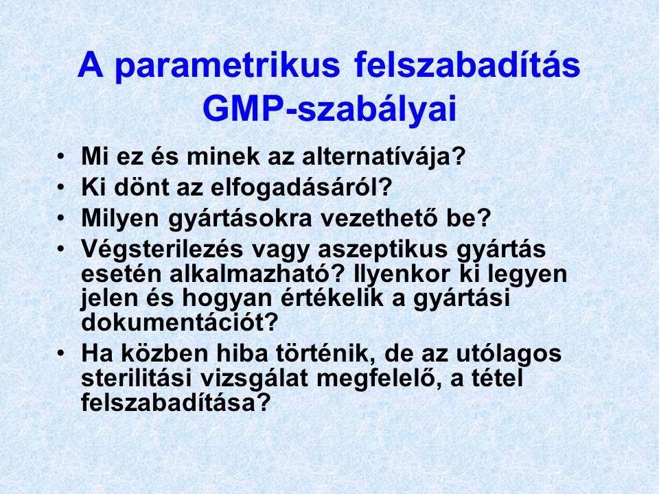 A parametrikus felszabadítás GMP-szabályai