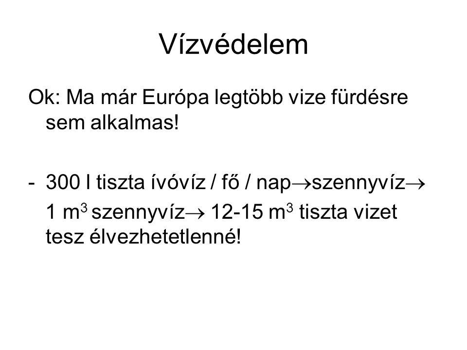 Vízvédelem Ok: Ma már Európa legtöbb vize fürdésre sem alkalmas!