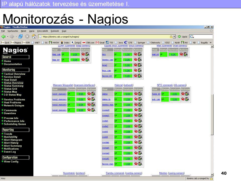 Monitorozás - Nagios