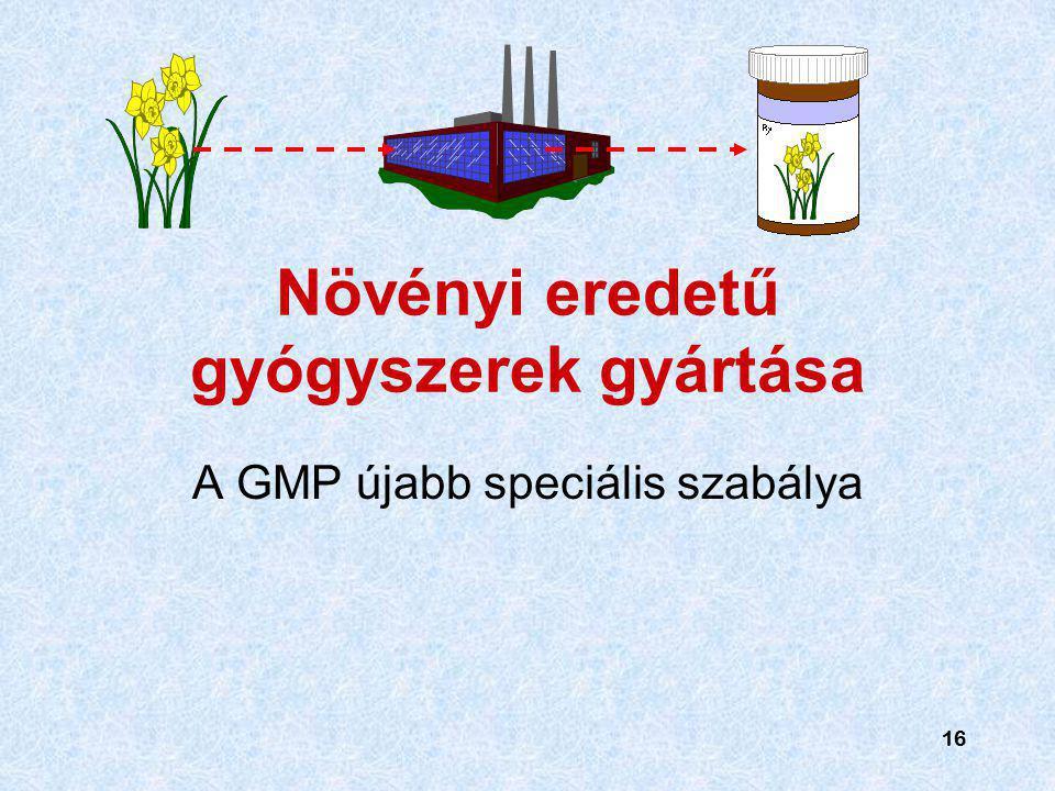 Növényi eredetű gyógyszerek gyártása