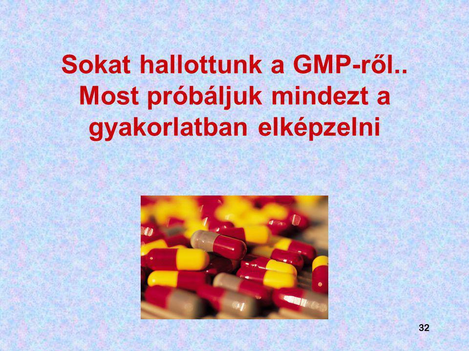 Sokat hallottunk a GMP-ről