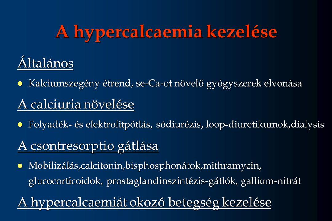 A hypercalcaemia kezelése