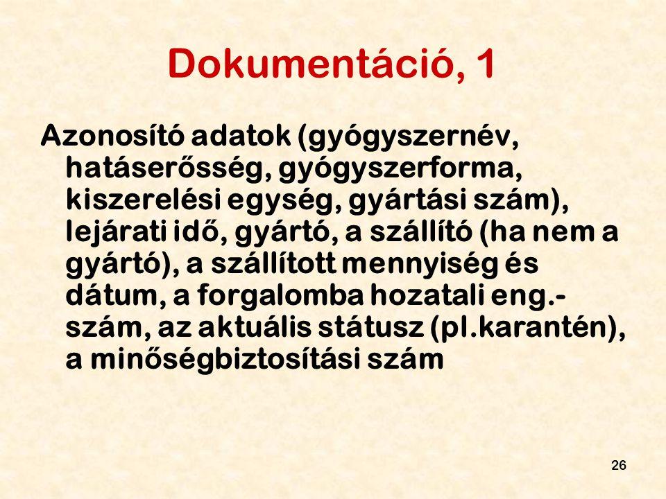 Dokumentáció, 1