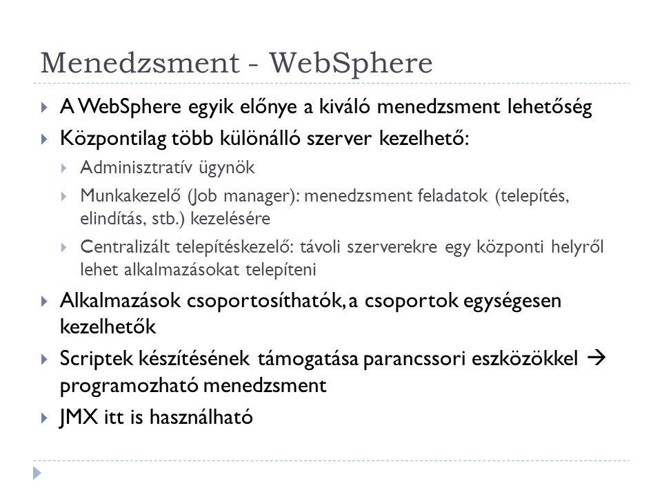 Menedzsment - WebSphere