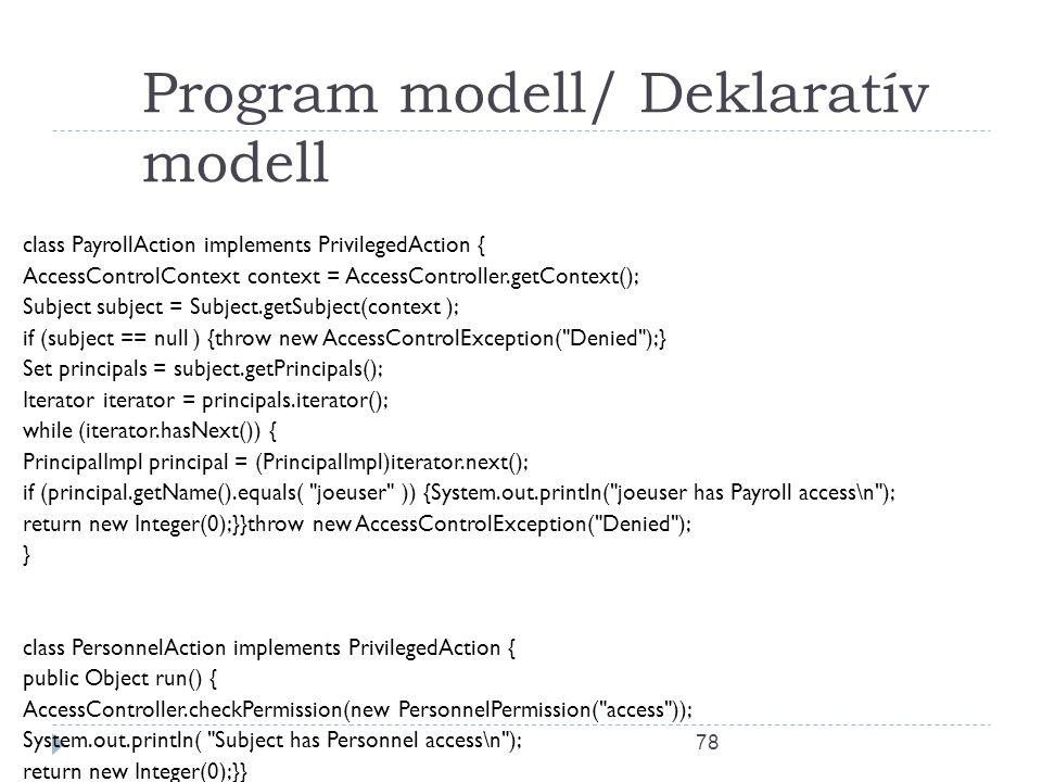 Program modell/ Deklaratív modell