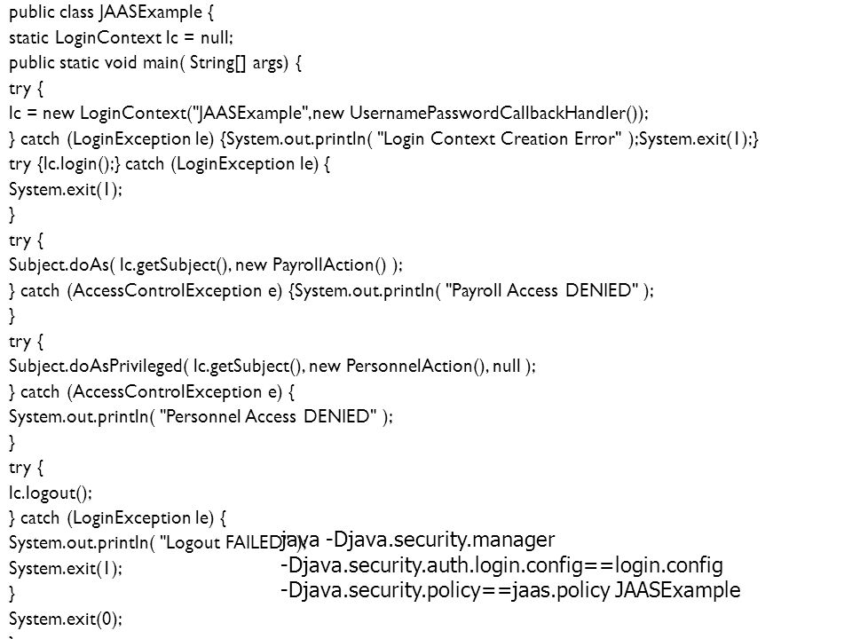 java -Djava.security.manager