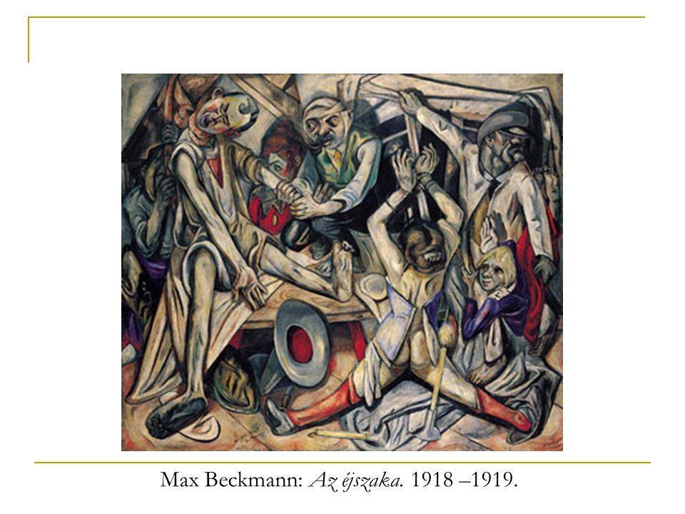 Max Beckmann: Az éjszaka. 1918 –1919.