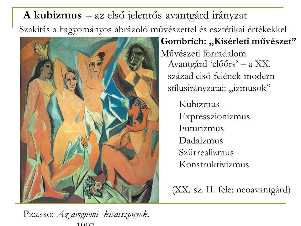 A kubizmus – az első jelentős avantgárd irányzat