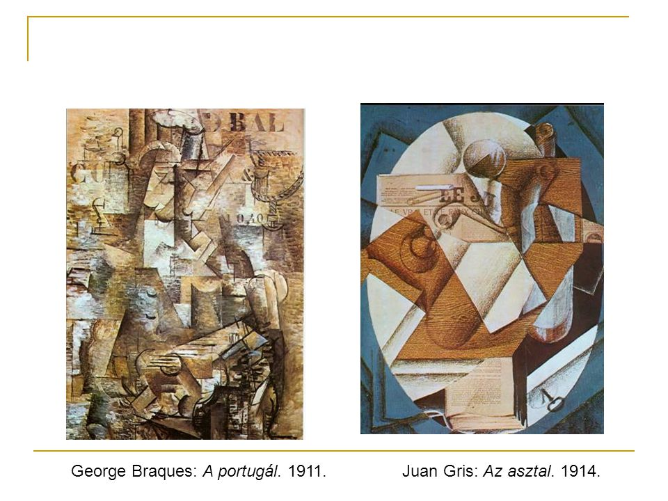 George Braques: A portugál. 1911.