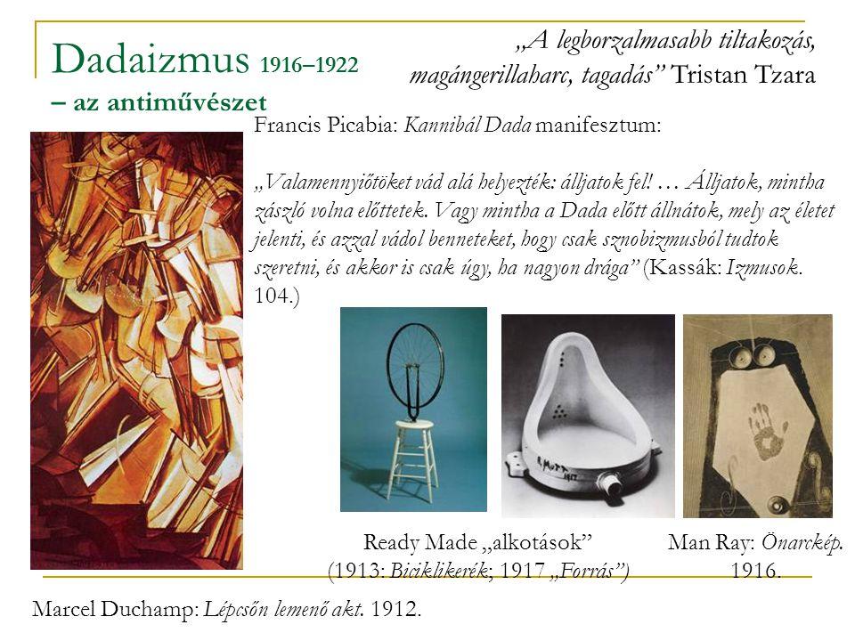 Dadaizmus 1916–1922 – az antiművészet