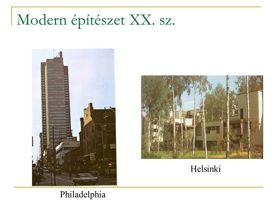Modern építészet XX. sz. Helsinki Philadelphia