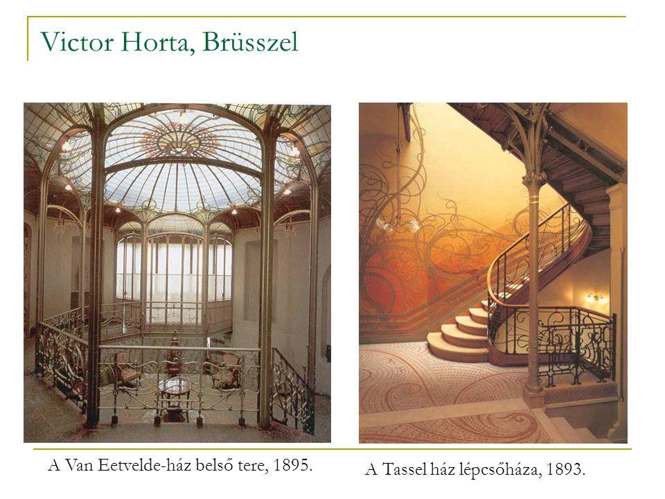 A Van Eetvelde-ház belső tere, 1895.