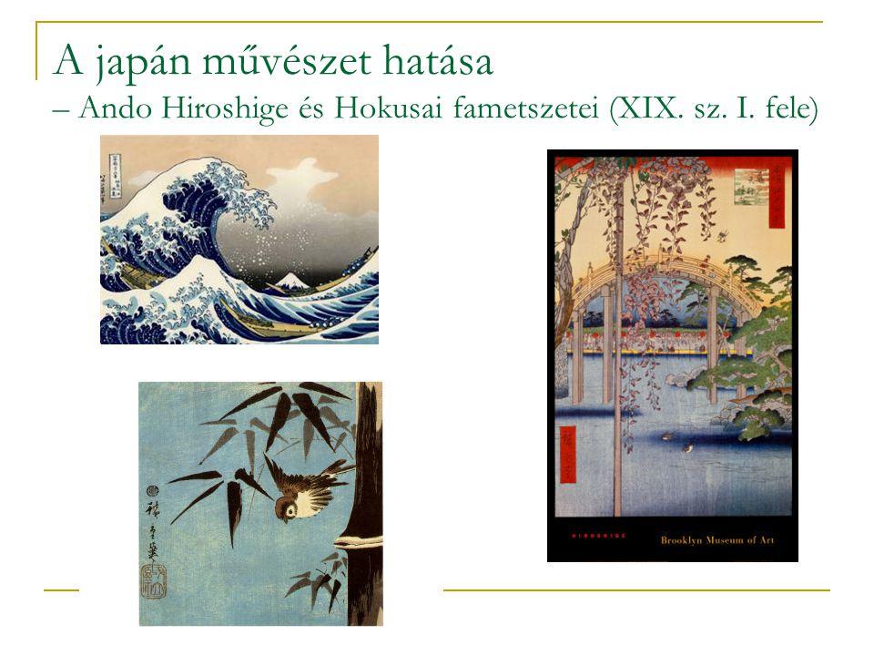 A japán művészet hatása – Ando Hiroshige és Hokusai fametszetei (XIX