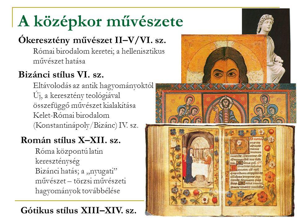 A középkor művészete Ókeresztény művészet II–V/VI. sz.