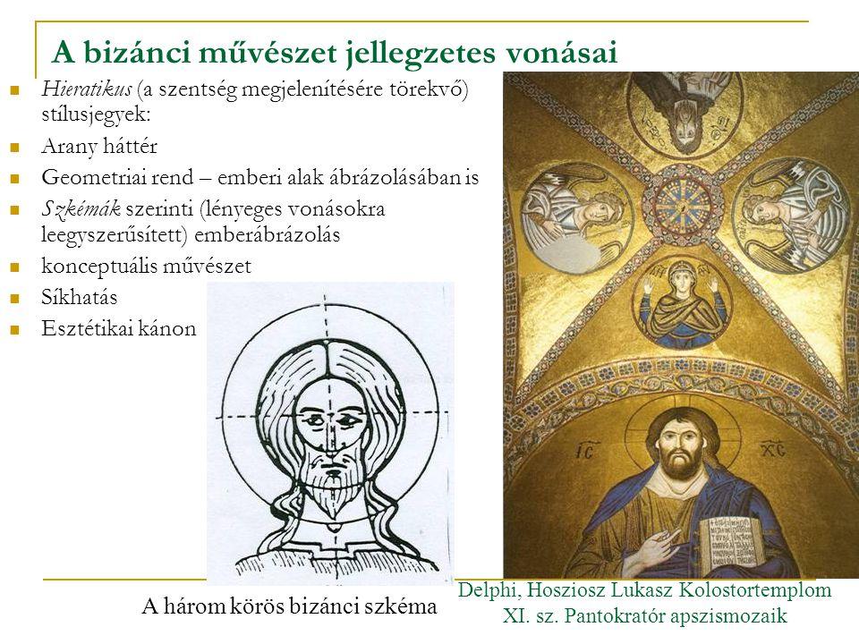 A bizánci művészet jellegzetes vonásai