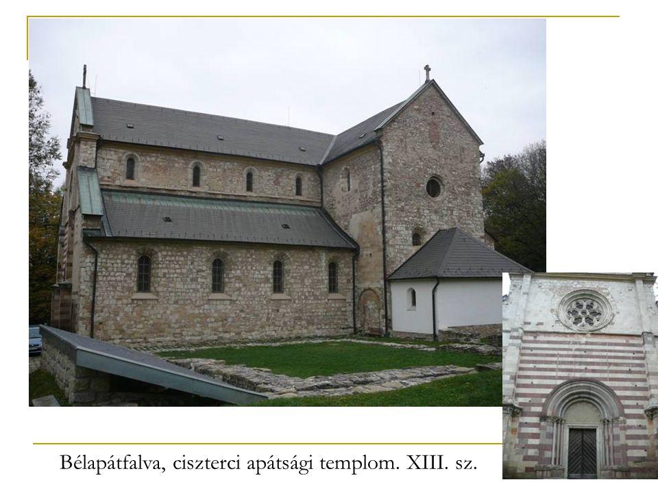 Bélapátfalva, ciszterci apátsági templom. XIII. sz.