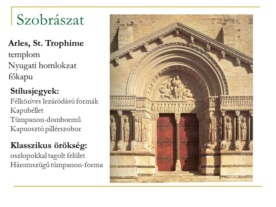 Szobrászat Arles, St. Trophime templom Nyugati homlokzat főkapu