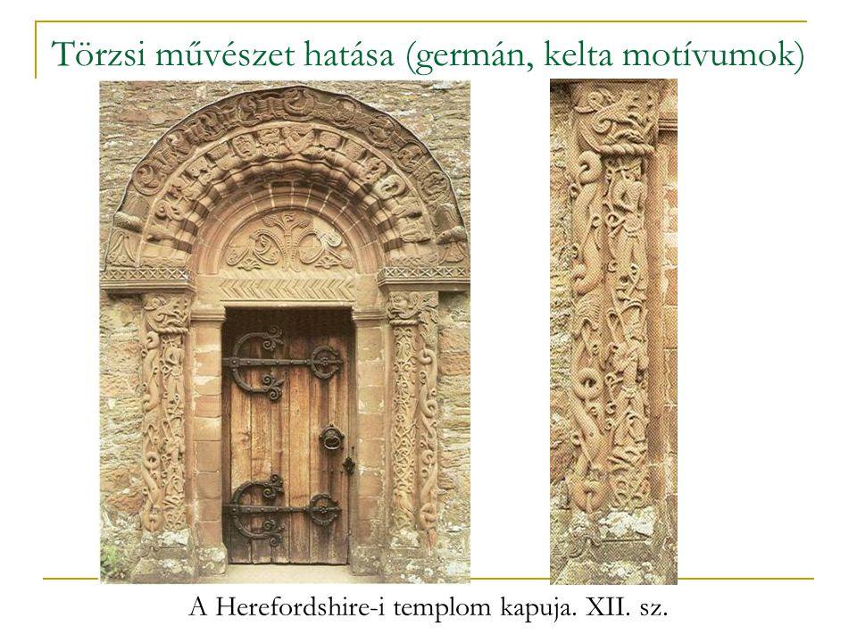 Törzsi művészet hatása (germán, kelta motívumok)