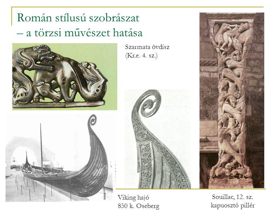 Román stílusú szobrászat – a törzsi művészet hatása