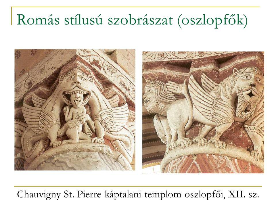 Romás stílusú szobrászat (oszlopfők)